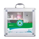 Transparent Door Aluminum First Aid Box with Portable Handle
