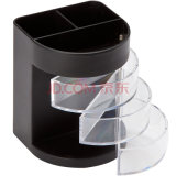 Round Shape Plastic Pen Holder for Desktop Office Stationery Storage