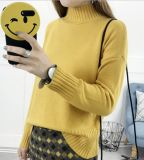 High Collar Collar Sweater Women Pure Color Loose Long Sleeves (BTQ208)