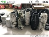 Polished White Marble Flower Vases for Home Decoration
