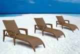 Sun Lounger with Armrest Pool Patio Outdoor Furniture