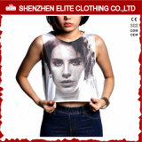 Hot Sale Yoga Ladies Customized Screen Print Sleeveless Crop Top (ELTWBJ-306)