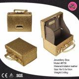Luxury Golden Custom Jewelry Box Leather Jewelry Gift Box (8738)