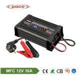 Automatic 12V 10A Portable 8-Stage Battery Charger with Ce