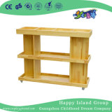 Kindergarten Rustic Wood Mobile Art Supplies Cabinet Equipment (HG-4505)