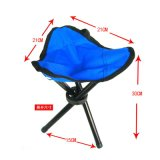 Concave-Convex Outdoor Blue Portable Folding Chair