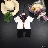 Summer Boy Baby Shirt Tie Shirt Short Sleeve Suspenders