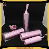 Square Pink Clear Lipstick Packing Tube with Silk Ribbon