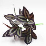 Artificial Plant Plastic Green Eyebrow Leaves for Home Garden Decor