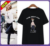 Fashion Sexy Cotton/Polyester Printed T-Shirt for Women (W302)