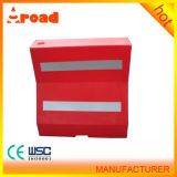 a Standard Block Red Plastic Road Barrier