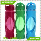 Hot Sale Plastic Water Bottle with Silicone Case