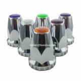 Chrome ABS Lug Nut Covers with Flanges and Reflectors 33mm