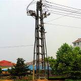 10kv 4-Legged Type Terminal Steel Tubular Tower for Power Transmission