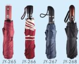 Auto Open Pure Color Fold Umbrella (JY-26)