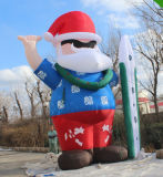 Inflatable Christmas Santa Claus and Snowman