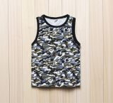 Factory Custom Camo Sleeveless Cotton Children Waistcoat (FY-0557)
