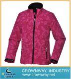 Winter Sport Outdoor Padding Softshell Jacket for Women