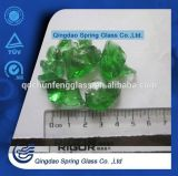 Green Decorative Glass Rocks Made in China