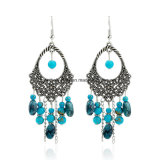 Fashion Cheap Hollow Handmade Beads Oval Tassel Earrings Jewelry