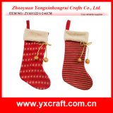 Christmas Decoration (ZY16Y122-1-2 41CM) Artificial Stripe Christmas Xmas Gift Bag