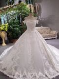 A Line off Shoulder Middle East Royal Wedding Gown