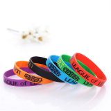 Custom Deboss Logo and Size Sport Silicone Wristband/Bracelet for Promotion Gift, Rubber Band