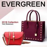 Fashion Designer Studded Small Lady Tote Bag Women Genuine Leather Handbag Wholesale Emg5341