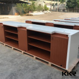 Customized Small White Hair Salon Solid Surface Reception Desk