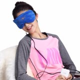 heated eye mask USB warm sleep silk steam mask carbon fiber eye shades for sleeping women Far-infrared Heated Eye Therapy Pad