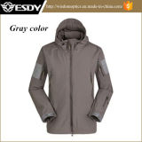 Gray Tactical Army Military Men Outdoor Hunting Camping Waterproof Jacket