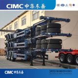3axle New Style Skeleton Semi Trailer for Kz / Professional Container Transport Vehicle