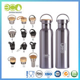 600ml/20oz Double Wall Bamboo Lid Stainless Steel Thermal Bottle Water Bottle Vacuum Flasks