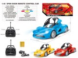 1: 18 Scale Five Functions Toy Open Door RC Car with Light&Battery (10294327)