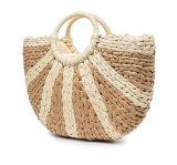 Handmade Straw Tote Bag Women Handbag Top Handle Big Capacity Travel