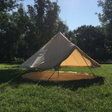 Outdoor Waterproof Four Season Family Camping and Winter Glamping Cotton Canvas Yurt Bell Tent with Mosquito Screen