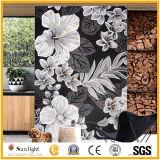 Customize Glass Flower Design Art Mosaic for Wall Tiles Decoration
