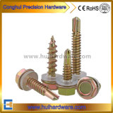 Hex Head Self Drilling Screw EPDM Washer Color Zinc Plated Good Quality Building Material DIN7504