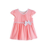 Baby Girl 100% Cotton Stripe Single Jersey Dress/Children's Clothing/Apparel/Kidswear/A-Line Dress/Infant's Wear/Skirt
