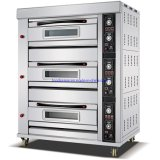 Professional Industrial Gas Bread Baking Oven 3 Deck 9 Tray Commercial Baking Oven