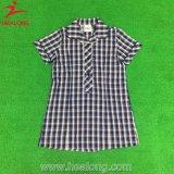 China Hot Sale Shirts Plaid Tee Shirt for Girl