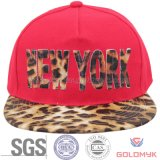 Sublimation Printed Leopard Pattern Logo on Snapback Cap