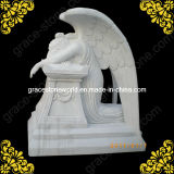Marble Sculpture Angel for Cemetery Monument
