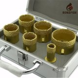 Good Quality Diamond Tools Drilling Vacuum Brazed Diamond Core Drill Bit Kits with Aluminium Box (diamond core cutter)