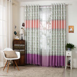 Countryside Style Print Curtain New Flower Curtain (KS-156)