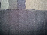 Wool Polyeter Suit Double Line Check Twill Fabric