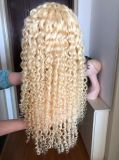 Popular High Quality Virgin Human Hair Products Miami 613 150% Density Deep Curly Full Lace Wigs Wholesale Price