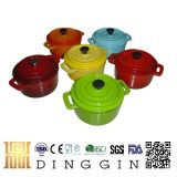 Cast Iron Pot with Different Color Enamel Painted