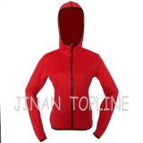 Women Hoody Micro Fiber Elastic Fleece Leisure Jacket Sports Wear