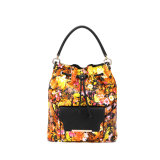 Leisure Flower Printing Drawstring Bag (MBNO039011)